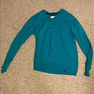 Teal V Neck Sweater